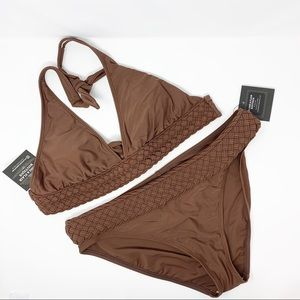 La Blanca • Brown Two Piece Bikini Swimsuit 14